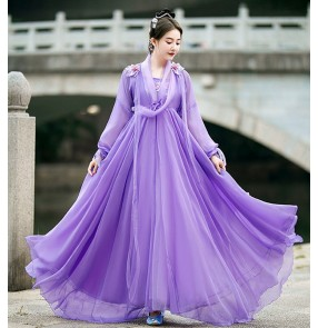 Chinese hanfu Ancient princess empress costume female hanfu skirt skirt fairy elegant wide-sleeved dance performance costume