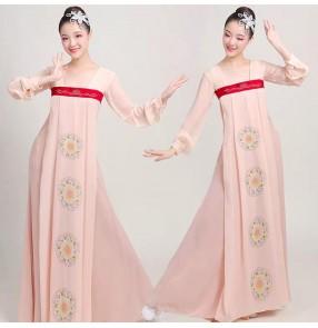 Chinese hanfu fairy drama cosplay dresses classical folk yangko umbrella dance dress for women