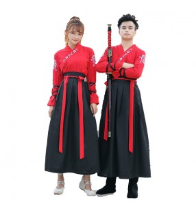 Chinese Hanfu for women and men ancient costume male swordsman robes martial arts traditional Chinese style graduation photo performance costume