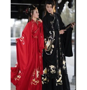 Chinese hanfu for women and men chinese ancient tang han dynasty empress phoenix dresses emperor film drama cosplay dresses performance photos video shooting robes