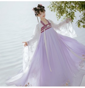 Chinese Hanfu for women traditional China ancient folk costumes for female stage performance classical dance princess fairy photos shooting cosplay dress for lady