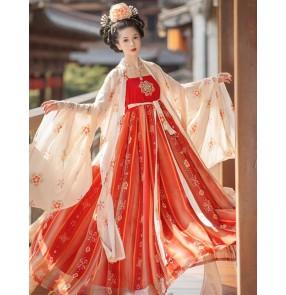 Chinese hanfu princess tang dynasty empress film drama fairy cosplay dress stage performance photos video shooting kimono dress for women