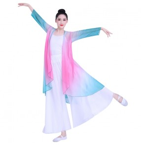 Chinese traditional Classical folk dance dresses modern ballet dance costumes Chinese style gradual classical dance basic training suit