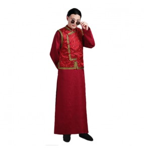 Chinese traditional Qing dynasty robes for men official uniform male talent costume film and television drama shooting costume prince emperor cosplay gown performance costume