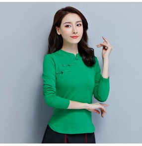 Chinese traditional qipao tops blouses for women