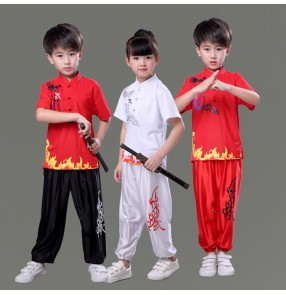 Chinese traditional wushu costumes Boys kids girls children taichi martial kungfu stage performance uniforms suits