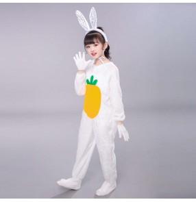 Christmas children's bunny cosplay costumes stage performance kids animal costume white rabbit dance costume infant animal costumes