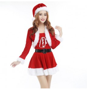 Christmas costumes for women female Santa Claus Christmas dress for party stage performance