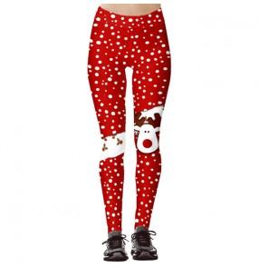 Christmas print fitness running sports gyms pants for women hip high waist leggings women yoga pants