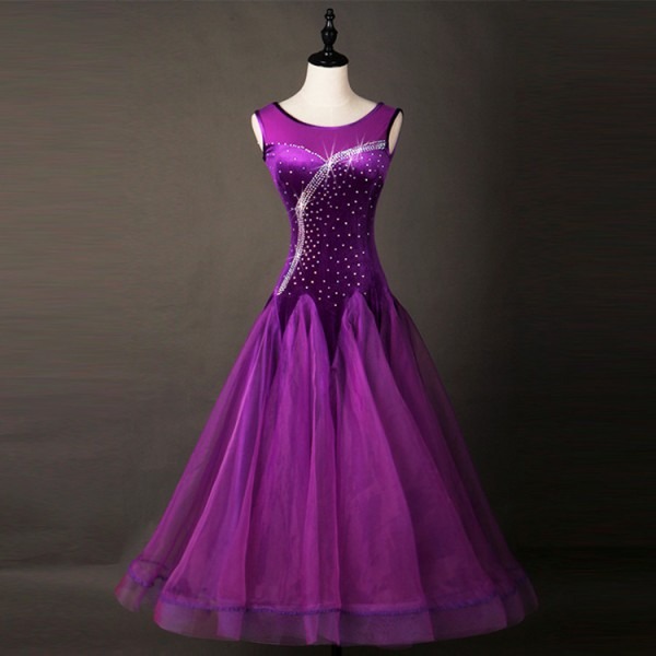 7eabda04bb26 Custom size Ballroom dancing dresses for children kids girls stage  performance professional waltz tango dancing skirts