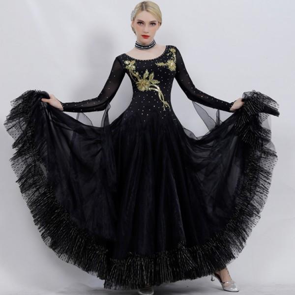 9a1804988ba8 Custom size ballroom waltz tango competition dresses for children women's professional  ballroom dancing skirt dress