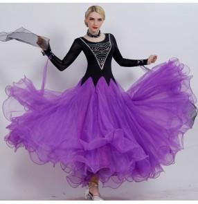 Custom size competition professional Ballroom waltz tango flamenco dresses for women female children