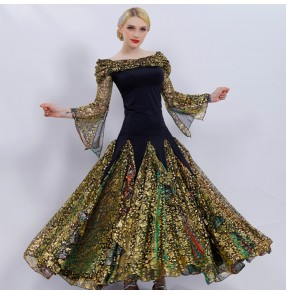 Custom size Flamenco dresses ballroom waltz tango dance dresses for female women modern dance professional competition dresses