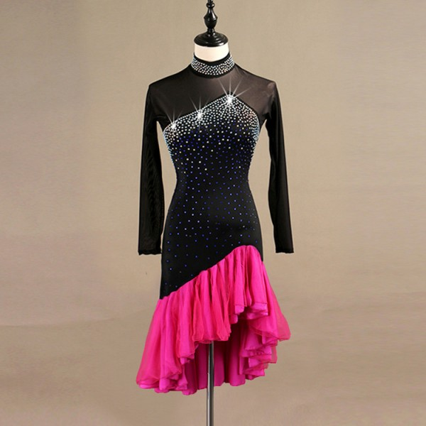 476fc2752e5d Custom size latin ballroom dancing dresses for kids children stage  performance competition modern dance dancing skirts dresses