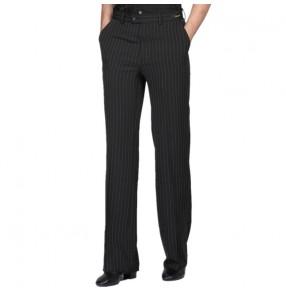 Custom size men latin ballroom dance pants striped stage performance tango waltz dance long pants trousers for male