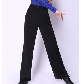 Custom size plus size Men's latin dance pants straight ballroom waltz tango dance long trousers pants