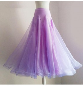 Custom size women dark green mint ballroom dancing skirts silver Modern dance skirt royal blue Ballroom dance practice clothes waltz tango Ballroom dancing skirt Large dress