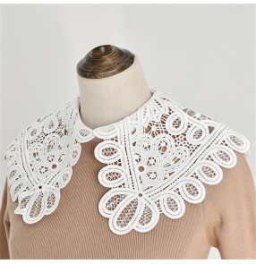 Detachable collar false collar for women Half-length collar chiffon inner base sweater white black short blouse dickey collar decorative sweater fake collar