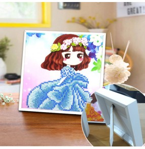Diamond painting Diamond Embroidery Cross stitch children DIY cartoon animation princess corridor bedroom mural decoration 3D Diamond Mosaic Full Drill Home decor