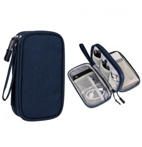 Digital data cable storage bag waterproof U disk hard drive headset multi-function storage bag Organizer box