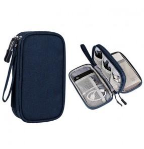 Digital data cable storage bag waterproof U disk hard drive headset multi-function storage bag Organizer box