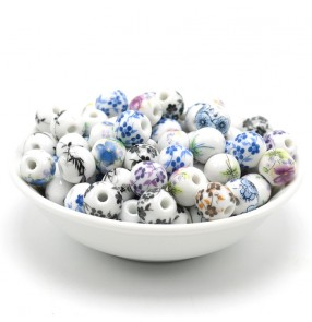 DIY Jingdezhen ceramic beads for bracelets jewelry accessories blue white porcelain loose beads Chinese knot ethnic style accessories diy