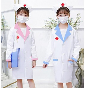 Doctor nurse performance clothing For girl photos shooting stage performance suit kindergarten professional doctor role-playing clothing