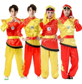 Drumming clothing dragon dance lion clothing male and female Yangko clothing adult martial arts wushu performance clothing for women and men