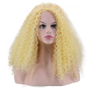 European American bar gogo dancers night club jazz dance wigs yellow gold red green ds explosion head exaggerated corn whisker curls fluffy long wig