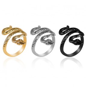European and American vintage king cobra ring open ring snake punk fashion stage performance gogo dancers singers rings