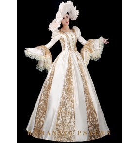 European classical palace style medieval dress European-style court performance stage costumes Retro European style aristocratic evening dress skirt for women