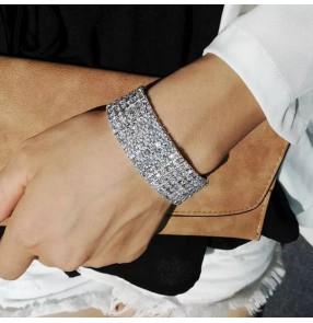 Fashion Bridal Bracelet Rhinestone Bracelet bangles for women bracelets en strass femmes