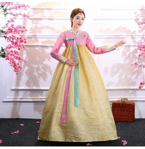 Film cosplay Korean costume female adult Hanbok improved Korean palace costume photo Dae Jang Geum stage performance dance costume