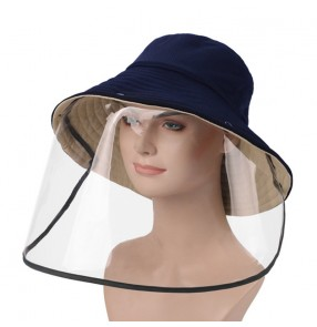 fisherman hats with face shield detachable Anti saliva droplets virus dustproof full face cover outdoor sun hats