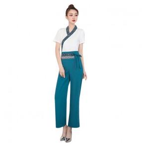 Foot therapist work clothes women foot massage work clothes spa health salon beautician foot bath shop suit women
