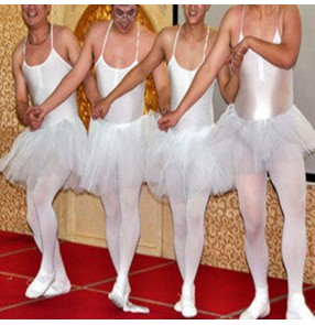 Four little swans men's funny adult ballet costumes male ballet dress Swan Lake dance skirt