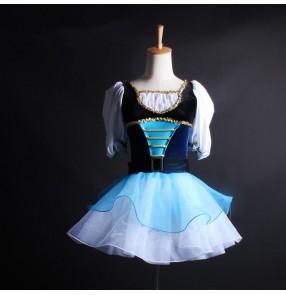 Girls baby European palace style ballet dress kids modern dance carnival party stage performance ballet dance dress