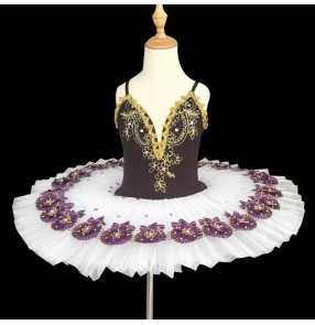 Girls ballet dance dress classical pancake skirts kids children swan lake ballerina classical pancake skirt ballet dance costumes