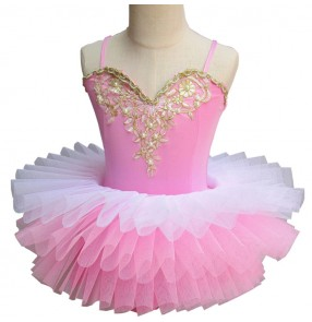 Girls ballet dresses for kids children pink  modern dance tutu skirt stage performance professional swan lake tutu skirts dresses