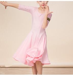 Girls ballroom latin dance dresses vestito latino per bambini
