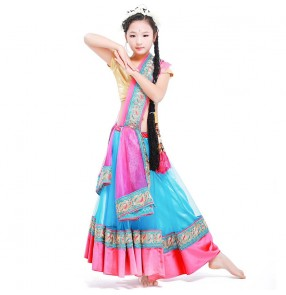 Girls belly dance costumes for children Bollywood dance dress for kids Indian Oriental dance style belly dance costumes