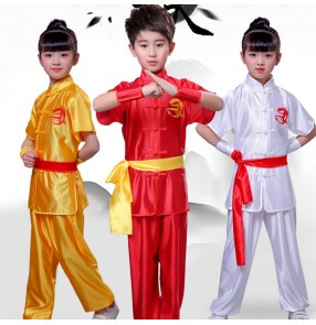 Girls boys children chinese traditional wushu kungfu  uniforms dance costumes taichi martial school stage performance clothes costumes