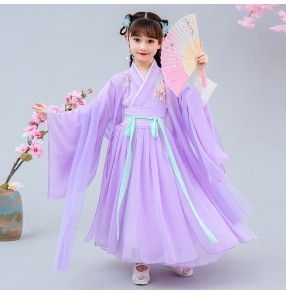 Girls children chinese hanfu princess dress anime drama cosplay dress for kids kimono dresses