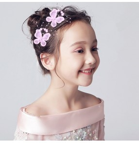Girls children fairy drama cosplay butterfly hair pin stage performance model show hair accessories