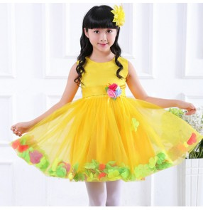Girls children jazz singers chorus stage performance dresses children kids drama fairy princess cosplay costumes
