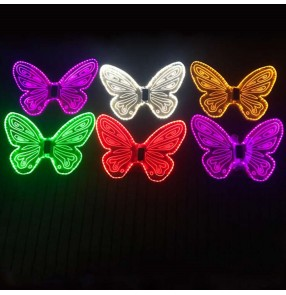 Girls children stage performance led light fairy dresses cosplay butterfly wings christmas party cosplay princess dress wings