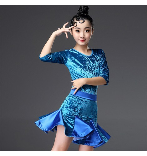 0885169eea6c girls-competition-ballroom-latin-dancing-dresses-velvet-blue-red-kids-stage -performance-rumba-chacha-dance-skirts-costumes-dress-9667-470x500.jpg