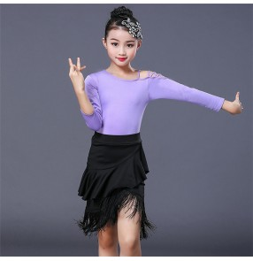 Girls competition latin dresses stage performance modern dance latin salsa rumba chacha dance skirts dresses