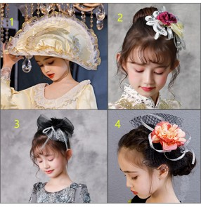 Girls European palace princess drama stage performance film movies cosplay hair accessories headdress head flowers