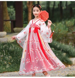Girls hanfu chinese traditional tang qing dynasty ancient fairy dresses drama cosplay photos shooting stage performance princess dresses